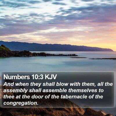 Numbers 10:3 KJV Bible Verse Image
