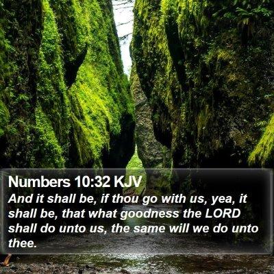 Numbers 10:32 KJV Bible Verse Image