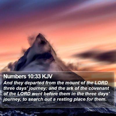 Numbers 10:33 KJV Bible Verse Image