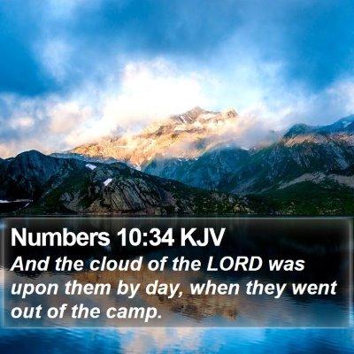 Numbers 10:34 KJV Bible Verse Image