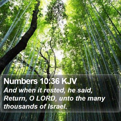Numbers 10:36 KJV Bible Verse Image