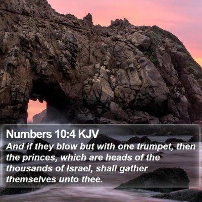 Numbers 10:4 KJV Bible Verse Image
