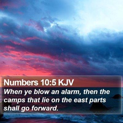Numbers 10:5 KJV Bible Verse Image