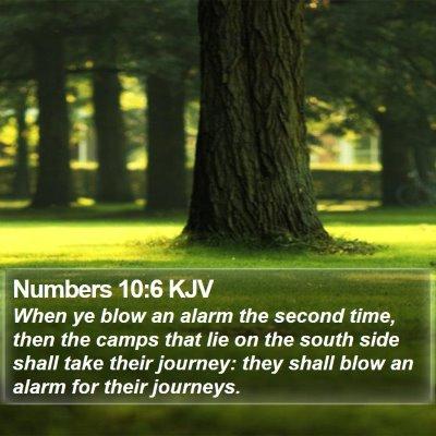 Numbers 10:6 KJV Bible Verse Image