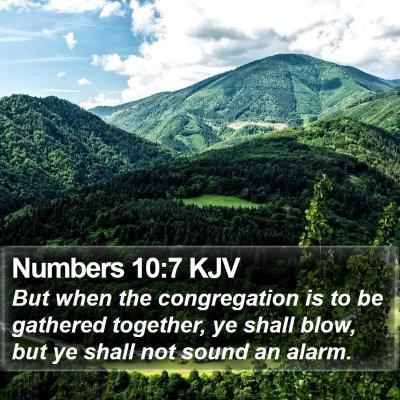 Numbers 10:7 KJV Bible Verse Image