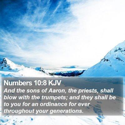 Numbers 10:8 KJV Bible Verse Image