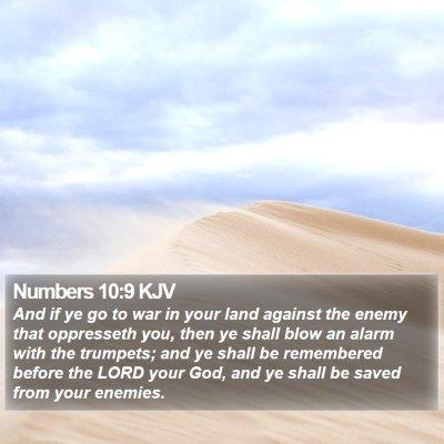 Numbers 10:9 KJV Bible Verse Image