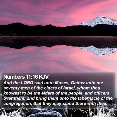 Numbers 11:16 KJV Bible Verse Image