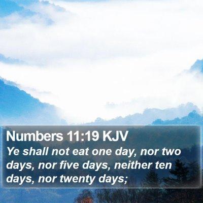 Numbers 11:19 KJV Bible Verse Image