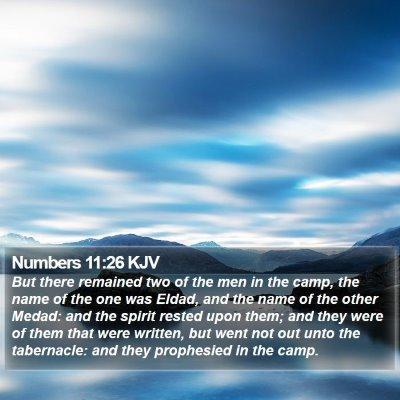 Numbers 11:26 KJV Bible Verse Image
