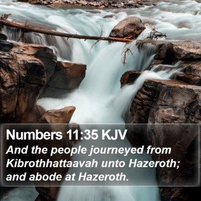 Numbers 11:35 KJV Bible Verse Image