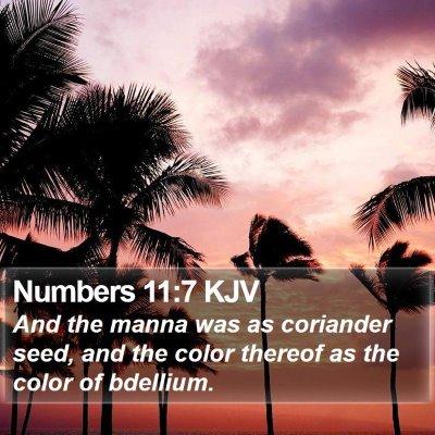Numbers 11:7 KJV Bible Verse Image