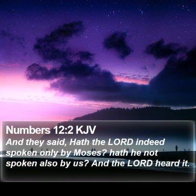Numbers 12:2 KJV Bible Verse Image