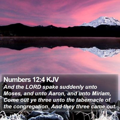 Numbers 12:4 KJV Bible Verse Image