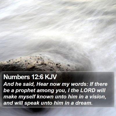 Numbers 12:6 KJV Bible Verse Image