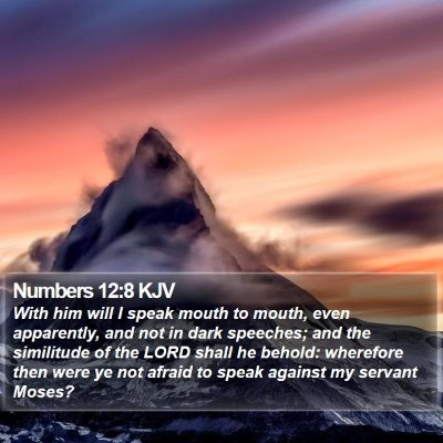 Numbers 12:8 KJV Bible Verse Image