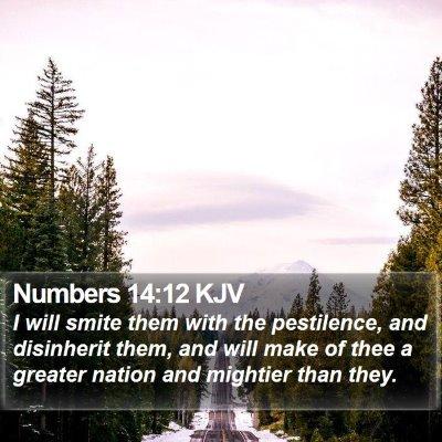 Numbers 14:12 KJV Bible Verse Image