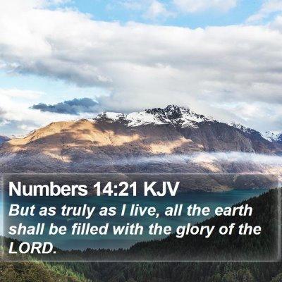 Numbers 14:21 KJV Bible Verse Image
