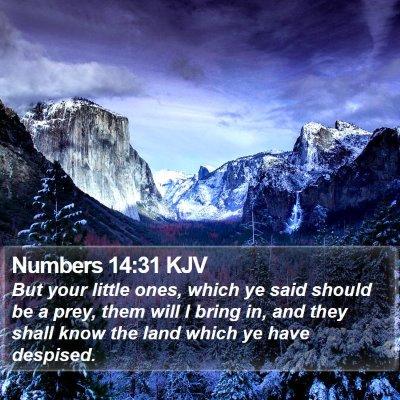 Numbers 14:31 KJV Bible Verse Image
