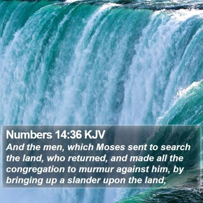 Numbers 14:36 KJV Bible Verse Image