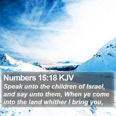 Numbers 15:18 KJV Bible Verse Image