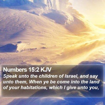 Numbers 15:2 KJV Bible Verse Image