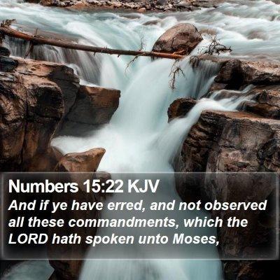 Numbers 15:22 KJV Bible Verse Image