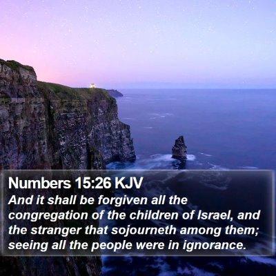 Numbers 15:26 KJV Bible Verse Image
