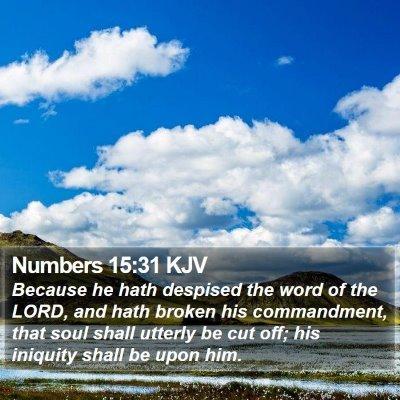 Numbers 15:31 KJV Bible Verse Image