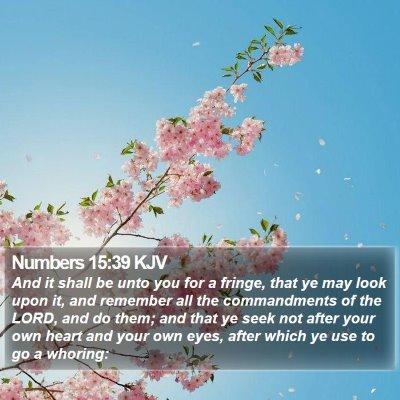 Numbers 15:39 KJV Bible Verse Image