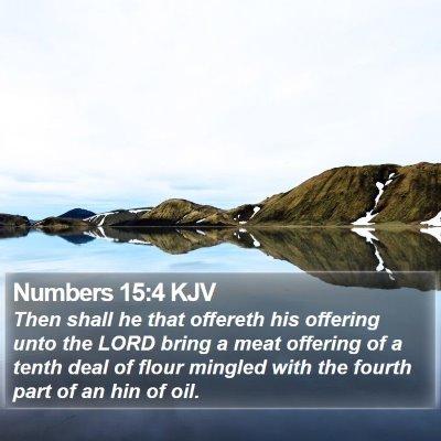 Numbers 15:4 KJV Bible Verse Image