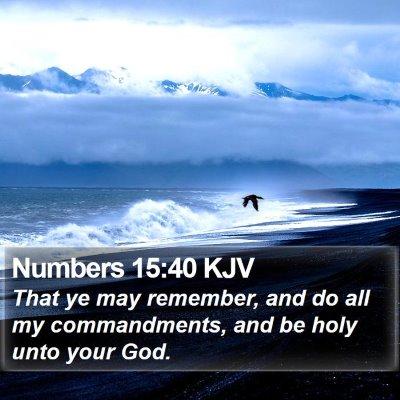 Numbers 15:40 KJV Bible Verse Image