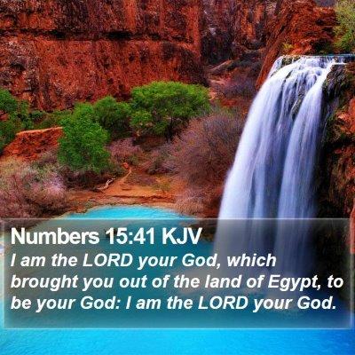 Numbers 15:41 KJV Bible Verse Image