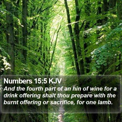 Numbers 15:5 KJV Bible Verse Image