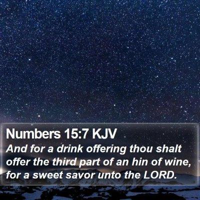 Numbers 15:7 KJV Bible Verse Image