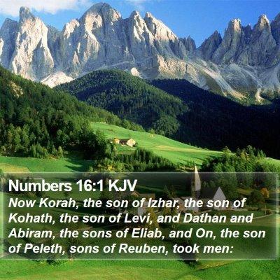 Numbers 16:1 KJV Bible Verse Image