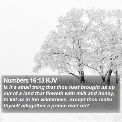 Numbers 16:13 KJV Bible Verse Image