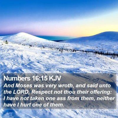 Numbers 16:15 KJV Bible Verse Image