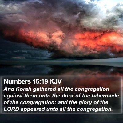 Numbers 16:19 KJV Bible Verse Image