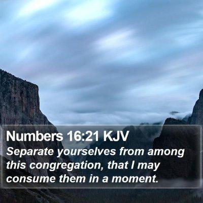 Numbers 16:21 KJV Bible Verse Image