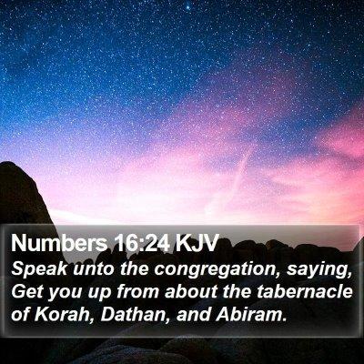 Numbers 16:24 KJV Bible Verse Image