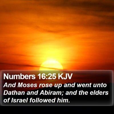 Numbers 16:25 KJV Bible Verse Image