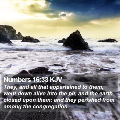 Numbers 16:33 KJV Bible Verse Image