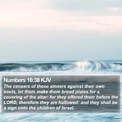 Numbers 16:38 KJV Bible Verse Image