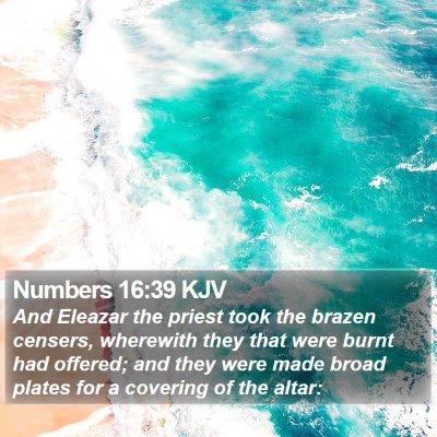 Numbers 16:39 KJV Bible Verse Image