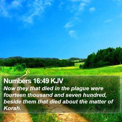 Numbers 16:49 KJV Bible Verse Image