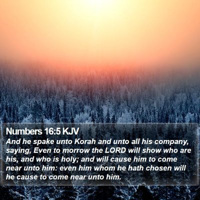 Numbers 16:5 KJV Bible Verse Image