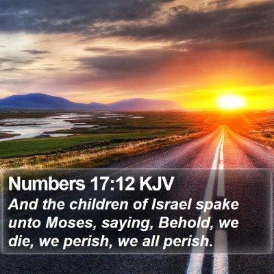 Numbers 17:12 KJV Bible Verse Image