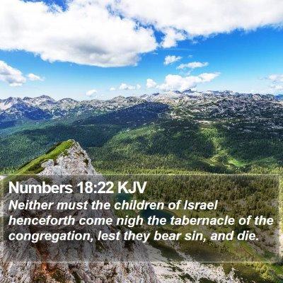 Numbers 18:22 KJV Bible Verse Image