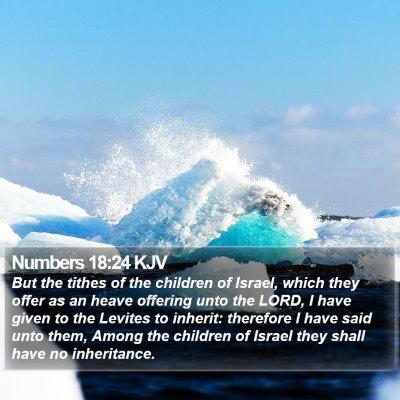 Numbers 18:24 KJV Bible Verse Image
